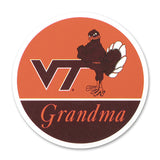 Virginia Tech Family Refrigerator Magnet: Grandma