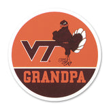 Virginia Tech Family Refrigerator Magnet: Grandpa
