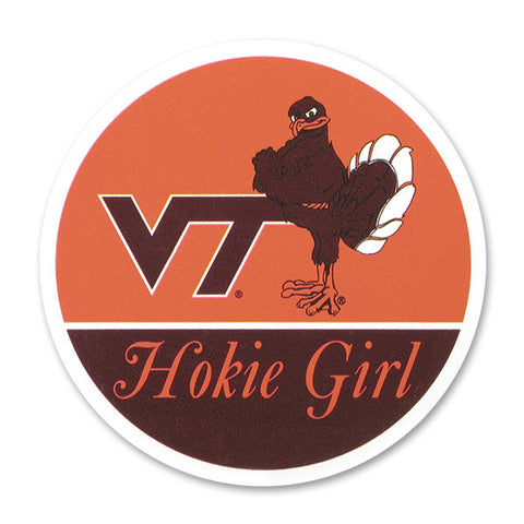 Virginia Tech Hokie Girl Refrigerator Magnet