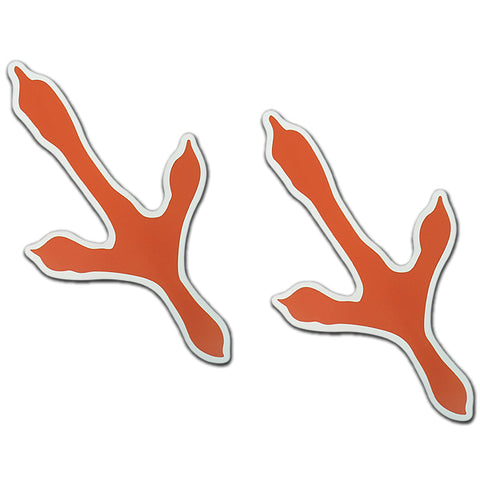 Orange Bird Track Magnet: Pack of 2