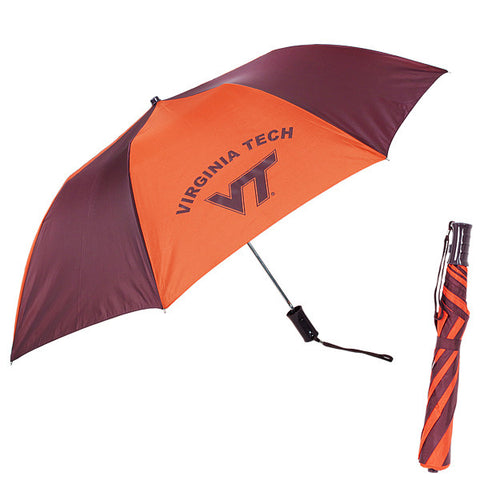 Virginia Tech Umbrella: Maroon and Orange