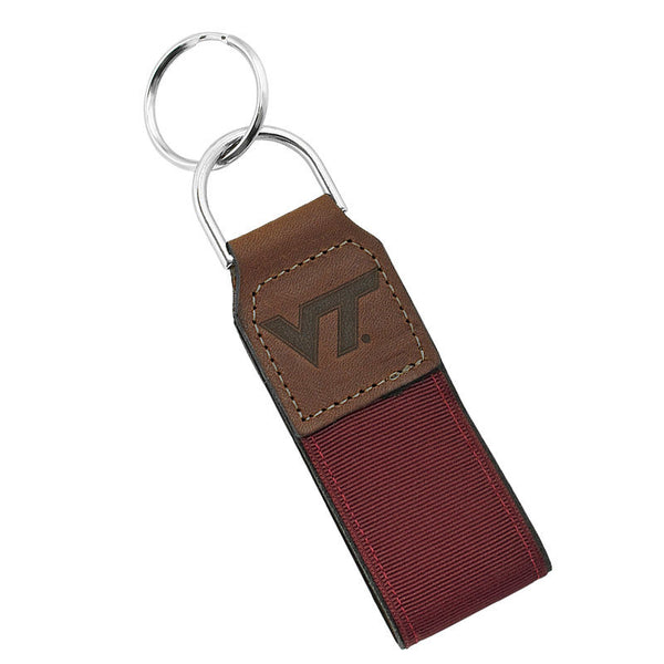 16f077aab9e2 Virginia Tech Embossed Leather Keychain – Campus Emporium