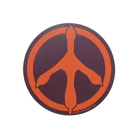 Maroon and Orange Peace Track Decal