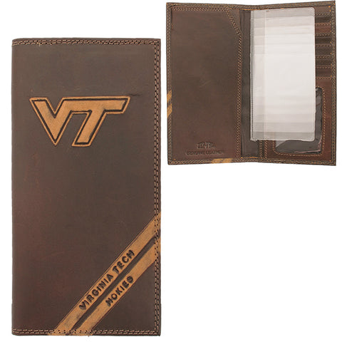 Virginia Tech Hokies Long Leather Roper Wallet
