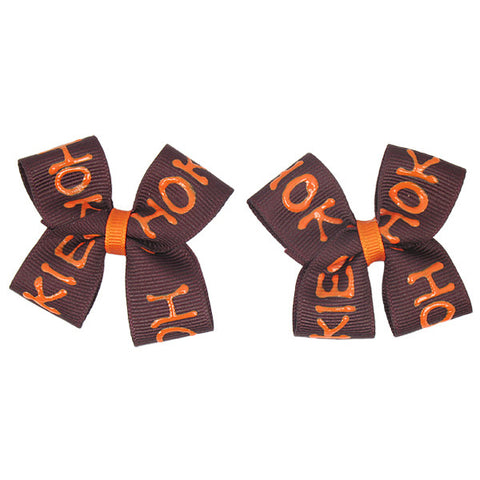 Virginia Tech Hokies Mini Bow Barrettes