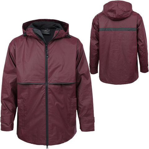 New Englander Rain Jacket: Maroon by Charles River