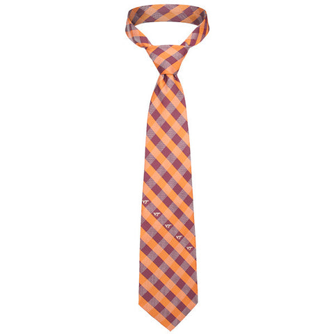 Virginia Tech Woven Check Tie