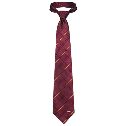 Virginia Tech Plaid Oxford Tie