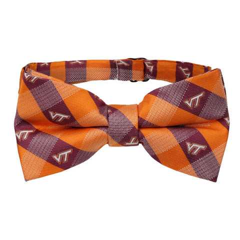Virginia Tech Checkered Bow Tie