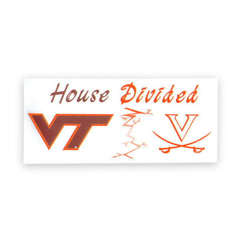 Virginia Tech-UVA House Divided Decal