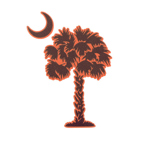 Maroon and Orange Palmetto Decal