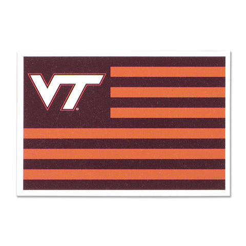 Virginia Tech Hokie Nation Flag Magnet: 6""