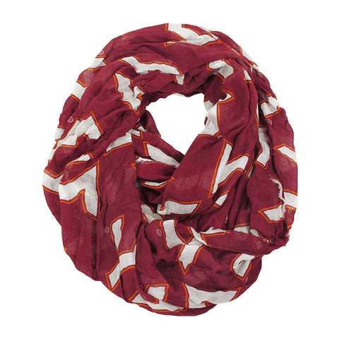 Virginia Tech Repeat Logo Infinity Scarf