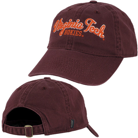 Virginia Tech Twill Cursive Hat by Legacy