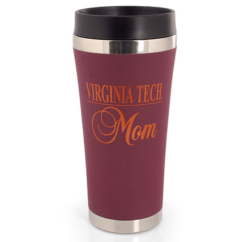 Virginia Tech Mom Travel Tumbler