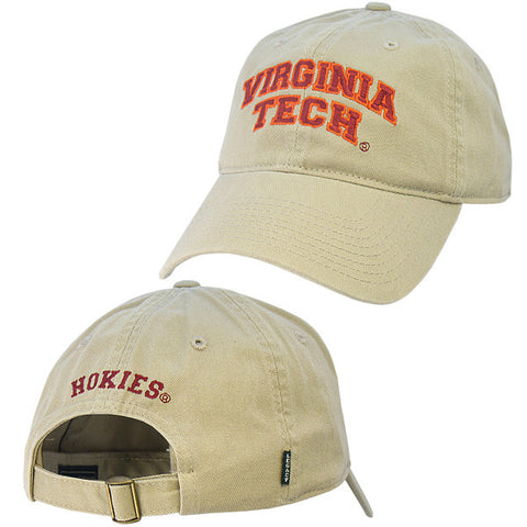 Virginia Tech Hat: Khaki by Legacy