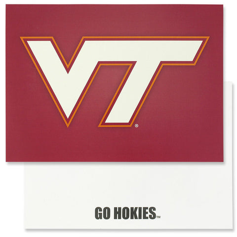 Virginia Tech Logo Blank Card: Maroon