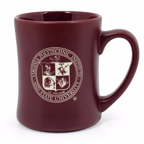 Virginia Tech Matte Seal Mug