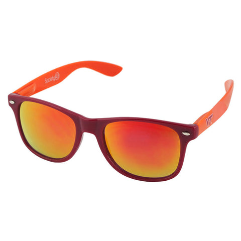 Virginia Tech Sunglasses: Maroon Frame and Orange Temples