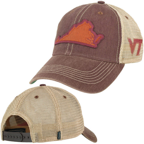 Virginia Tech State Trucker Hat: Maroon by Legacy