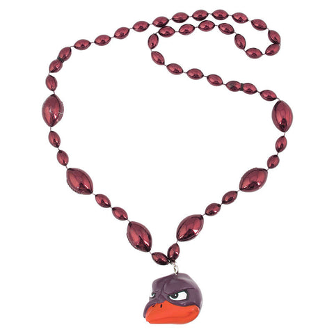 Virginia Tech Beads with Foam Hokie Bird