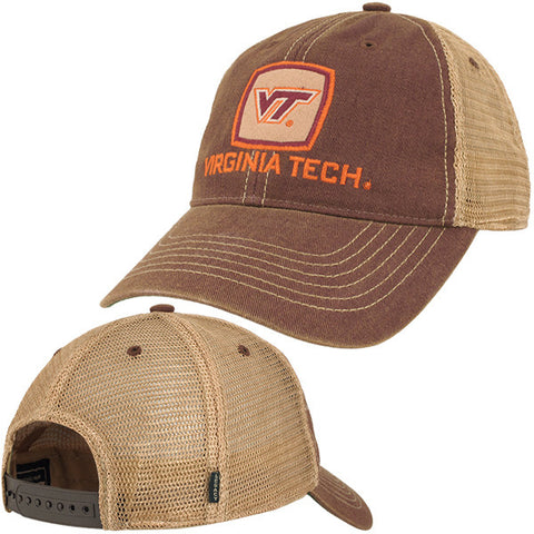 Virginia Tech Old Favorite Patch Trucker Hat: Maroon by Legacy