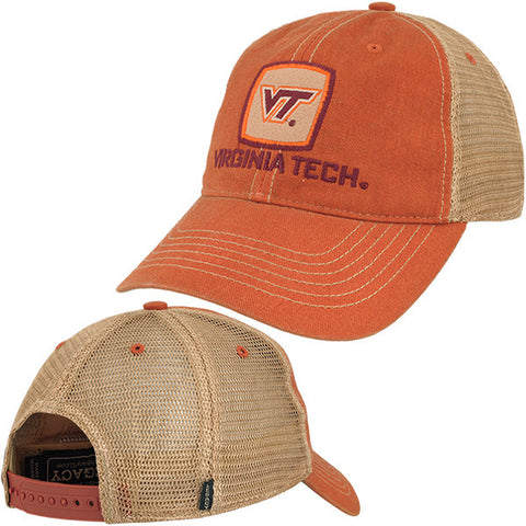 Virginia Tech Old Favorite Patch Trucker Hat: Orange by Legacy