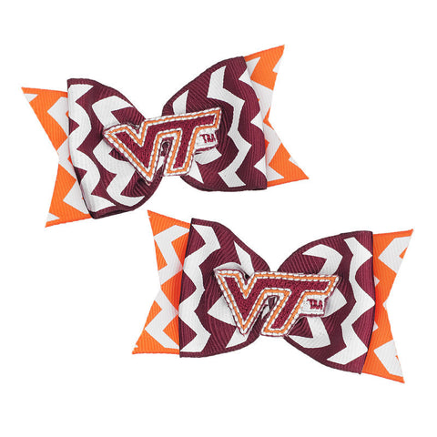 Virginia Tech Chevron Mini Bow Barrettes