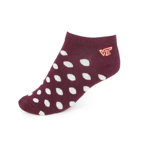 Virginia Tech Polka Dot No-Show Socks