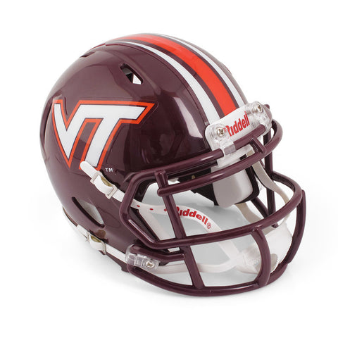 Virginia Tech Mini Replica Striped Helmet: Maroon by Riddell