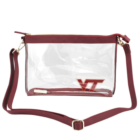 Virginia Tech Clear Crossbody Purse: Large