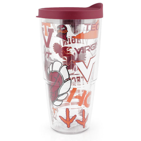 Virginia Tech All Over Tumbler by Tervis Tumbler 24 oz.