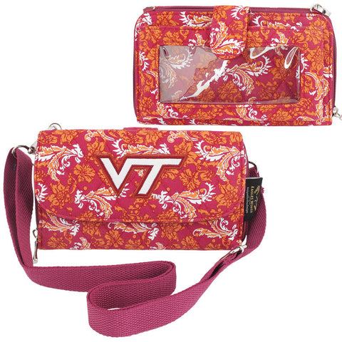 Virginia Tech Bloom Crossbody Wallet