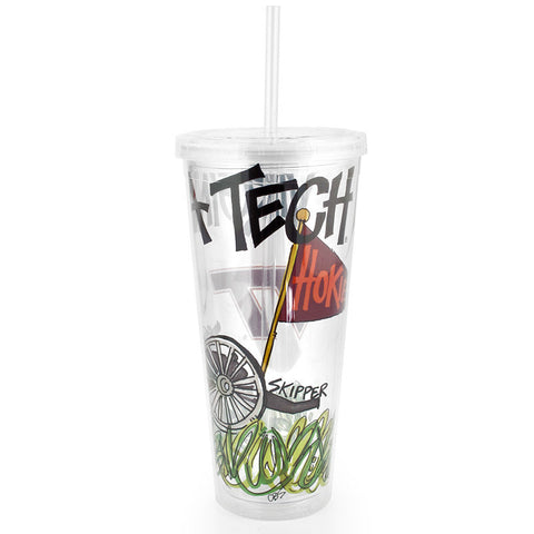 Virginia Tech Skipper Tumbler with Straw