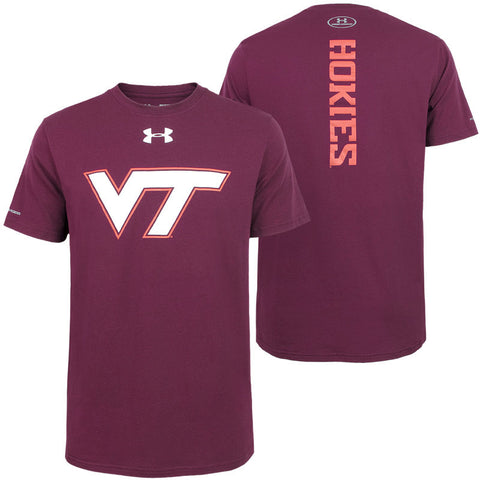 Virginia Tech Men's Charged Cotton Crew T-Shirt: Maroon by Under Armour