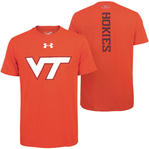 Virginia Tech Men's Charged Cotton Crew T-Shirt: Orange by Under Armour
