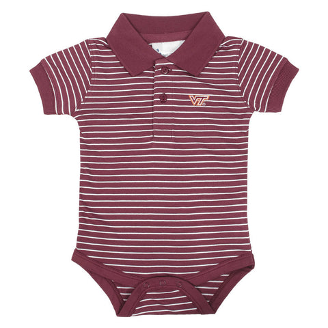 Virginia Tech Baby Striped Golf One-Piece