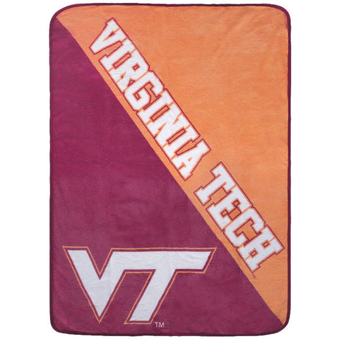 Virginia Tech Super Plush Throw Blanket