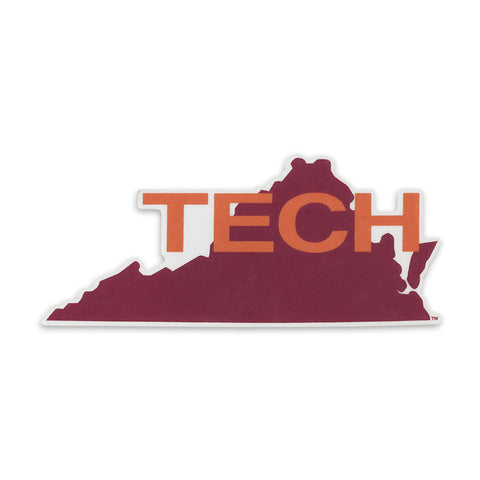 Virginia Tech Vault State Decal