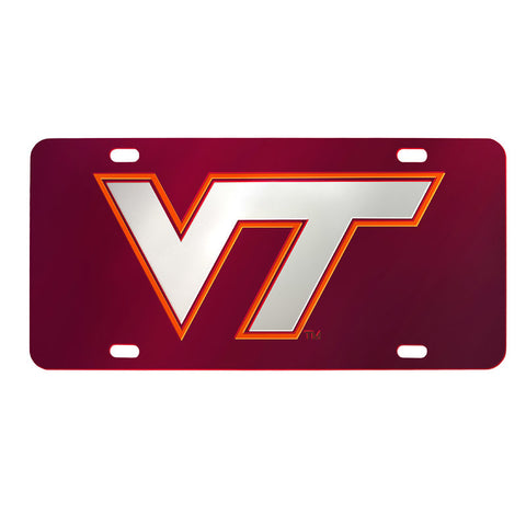 Virginia Tech Laser License Plate: Maroon