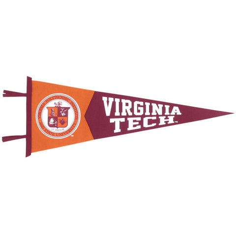 Virginia Tech 12x30 Seal Pennant