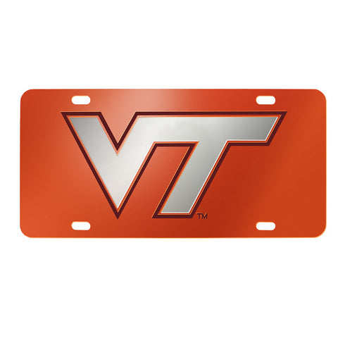 Virginia Tech Laser License Plate: Orange