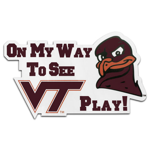 "Virginia Tech ""On My Way To See..."" Magnet"