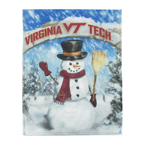 Virginia Tech Snowman Garden Flag