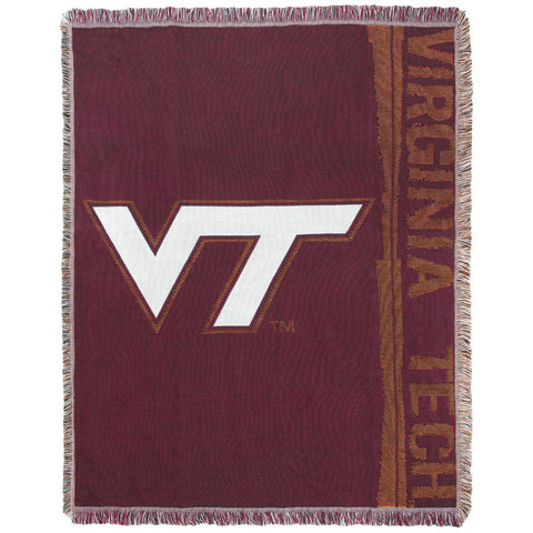 Virginia Tech Logo Woven Throw Blanket