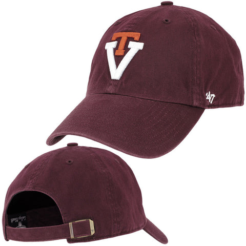 Virginia Tech Retro Logo Hat: Maroon by 47 Brand