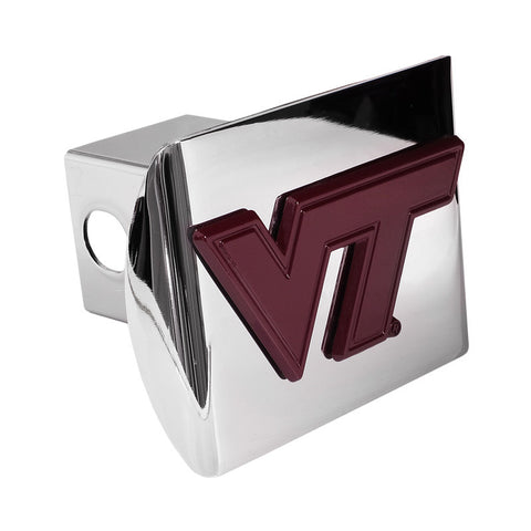 Virginia Tech Hitch Cover: Maroon on Chrome
