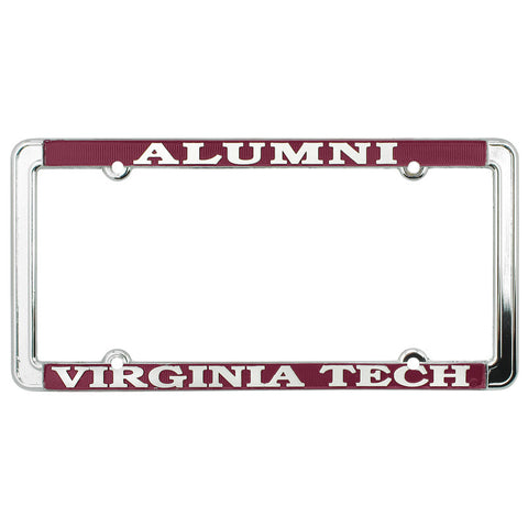 Virginia Tech Alumni Thin Rim License Plate Frame: Chrome
