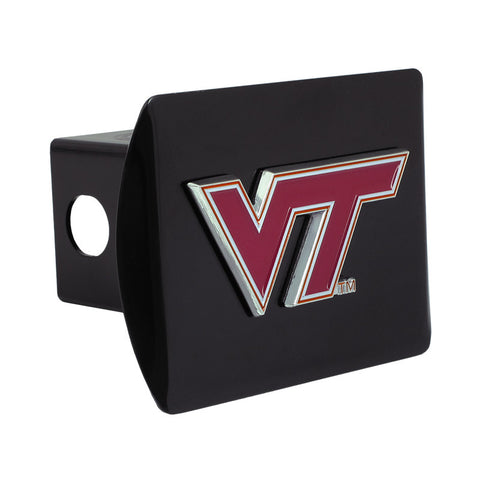 Virginia Tech Color Emblem Hitch Cover: Black