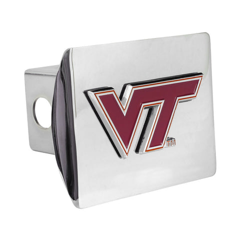 Virginia Tech Color Emblem Hitch Cover: Chrome